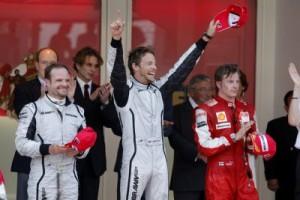 Jenson Button, Rubens Barrichello, Kimi Raikkonen, Monaco, 2009