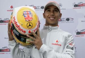 Lewis Hamilton's 2009 British GP helmet