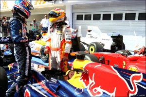 Mark Webber and Fernando Alonso, Hungary, 2009