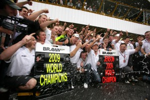 Brawn GP celebration, Brazil, 2009